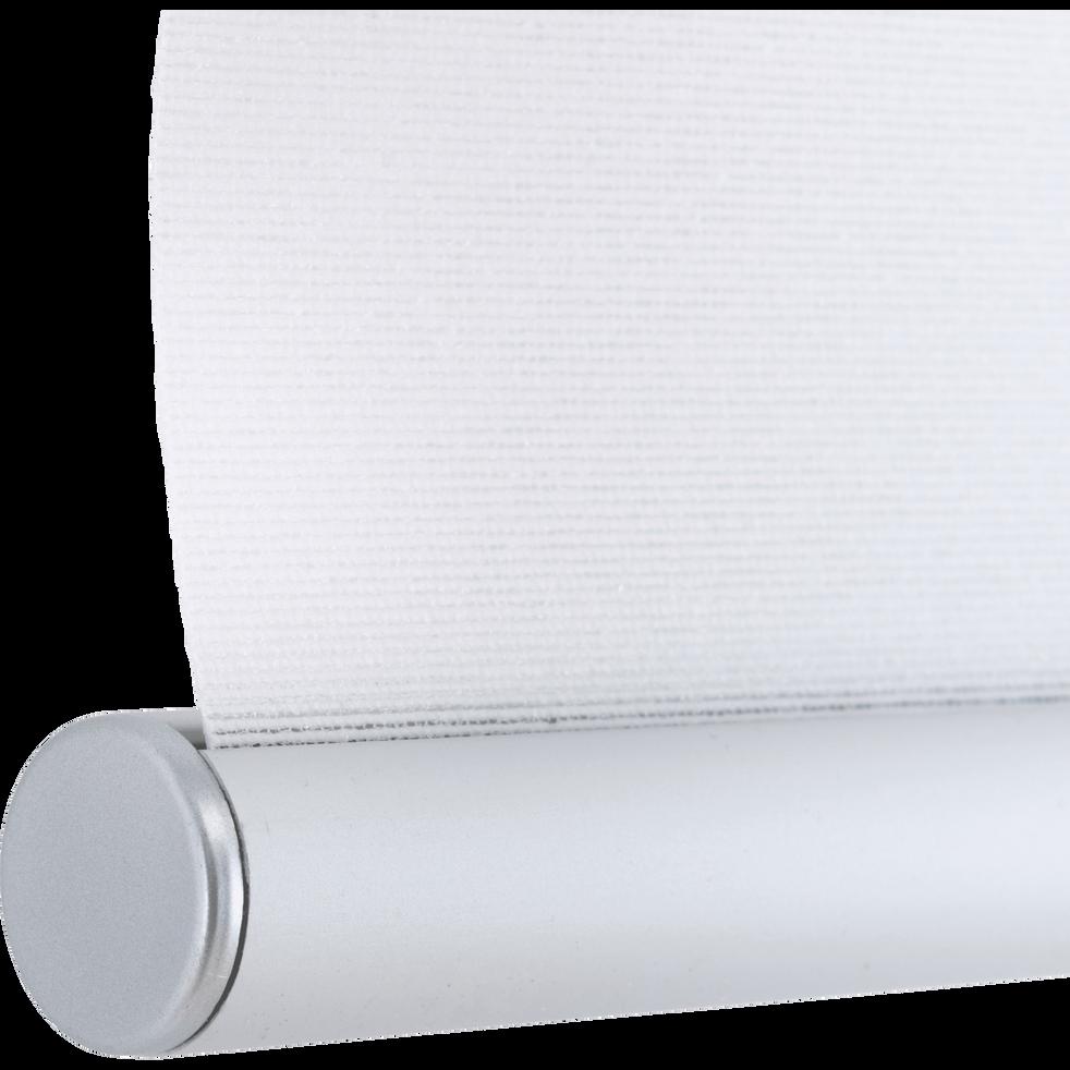 Store enrouleur tamisant épais blanc 42x190cm-JOUR-NUIT
