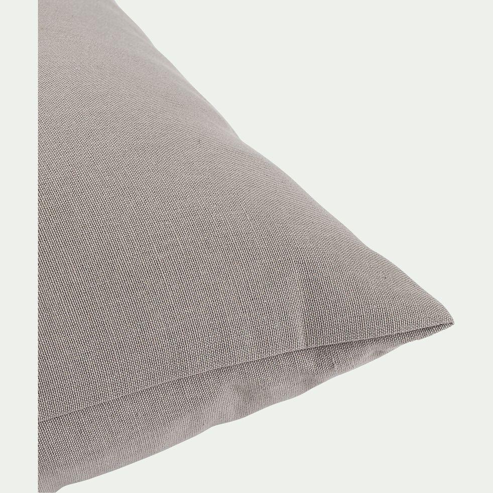 Coussin en coton - gris vésuve 40x40cm-CALANQUES