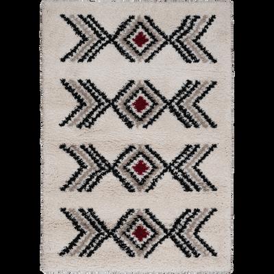Tapis rectangulaire à motifs Beige 80x150 cm-JASON