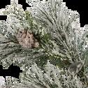 Branche artificielle de pin givrée L34cm-ISNARD