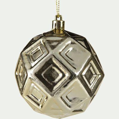 Boule de Noël en plastique doré D8cm-METRIE