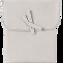 Taie de traversin en coton Beige roucas 43x190cm-CALANQUES