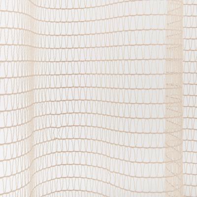 Voilage à motifs ajouré beige 140x260cm-KISKA