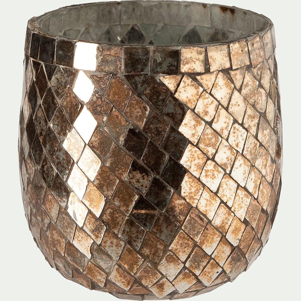 Photophore en verre - cuivré H12cm-Sapmi