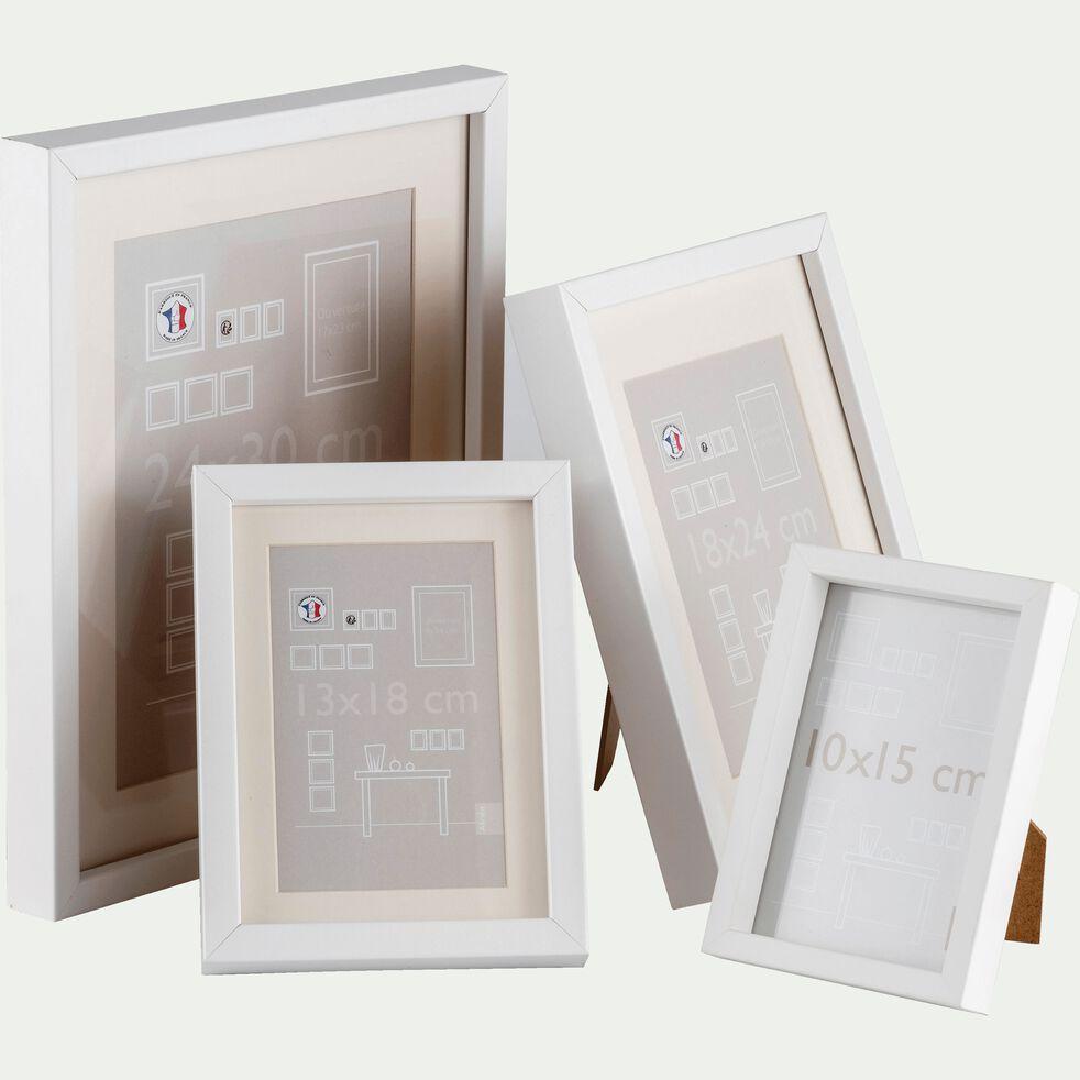 Cadre photo en bois - 18x24cm blanc-Hapa