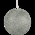 Bougie ronde vert olivier D8cm-BEJAIA