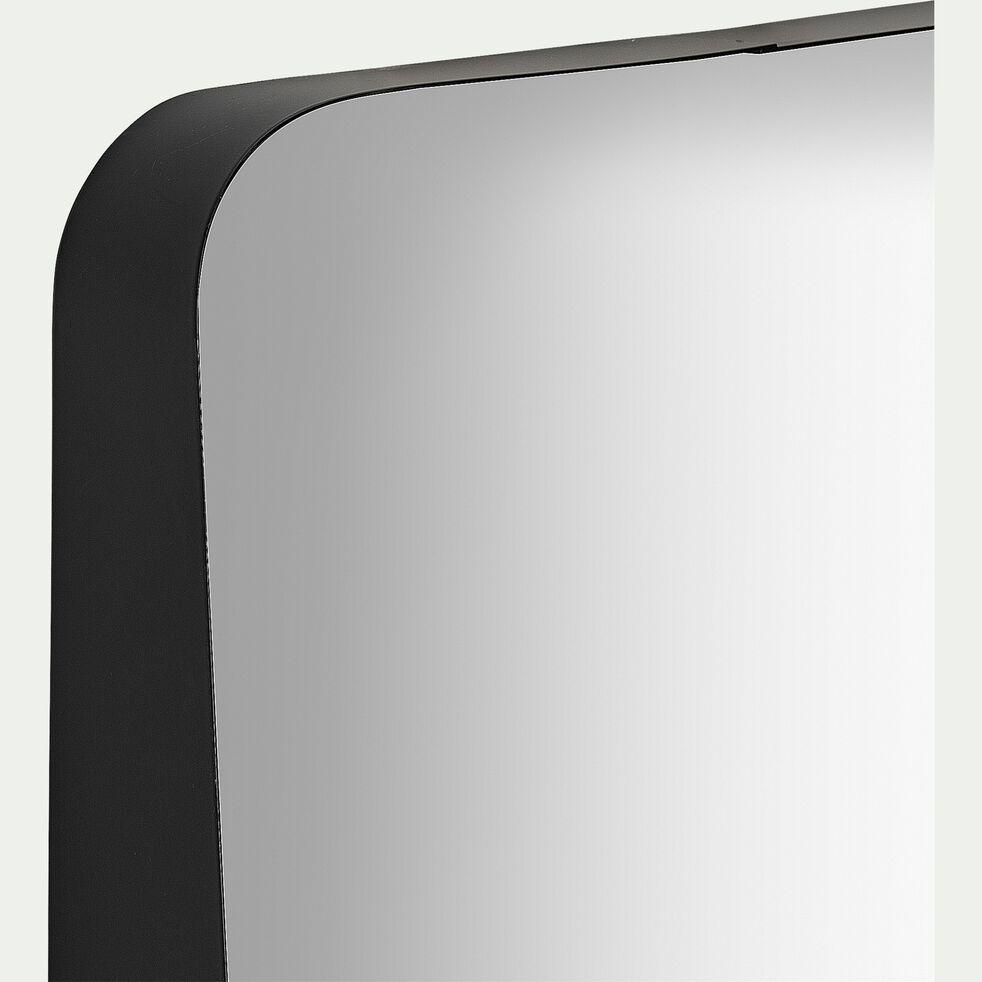 Miroir à rebord asymétrique - noir 40x60cm-AMARO