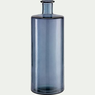 Vase en verre recyclé - bleu H40cm-VISHNU