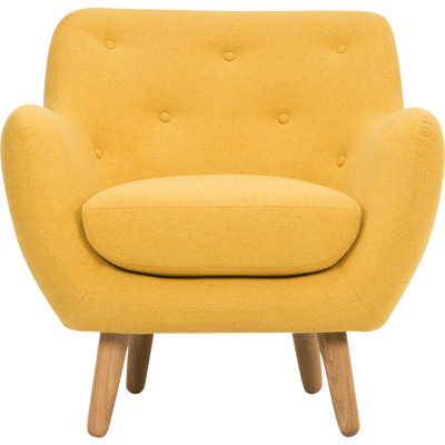 Fauteuil jaune moutarde-POPPY