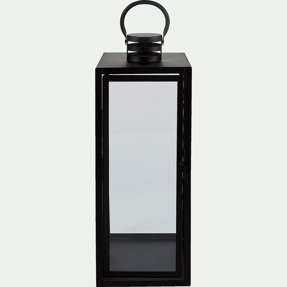 Lanterne en métal - noir L18xl18xH48cm-MARCELLA