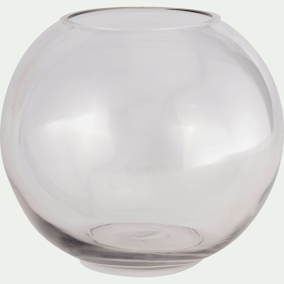 Vase boule en verre - transparent D20cm-CERS