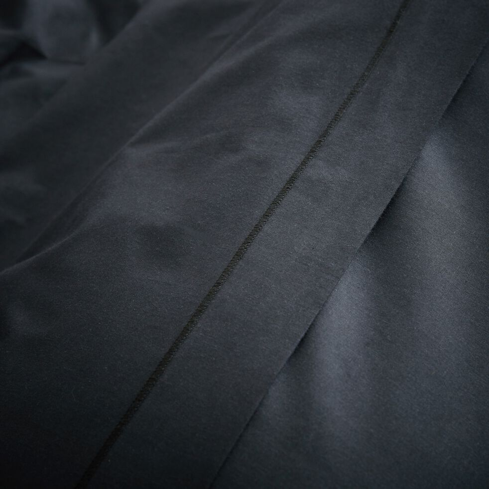 Drap plat en coton - gris calabrun 180x300cm-CALANQUES