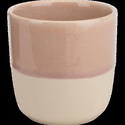 Mug en grès rose 25cl-SANTAL