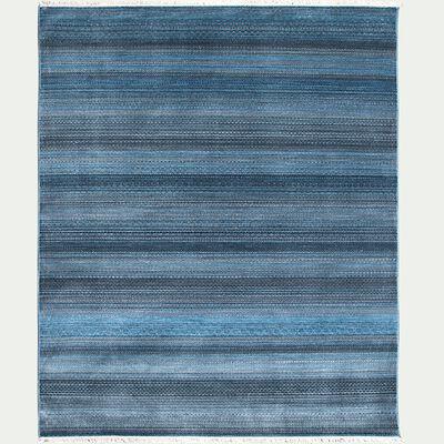 Tapis à motifs rayés - bleu 133x190cm-MOURIES