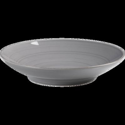 Assiette creuse en faïence gris clair D21cm-GASTON