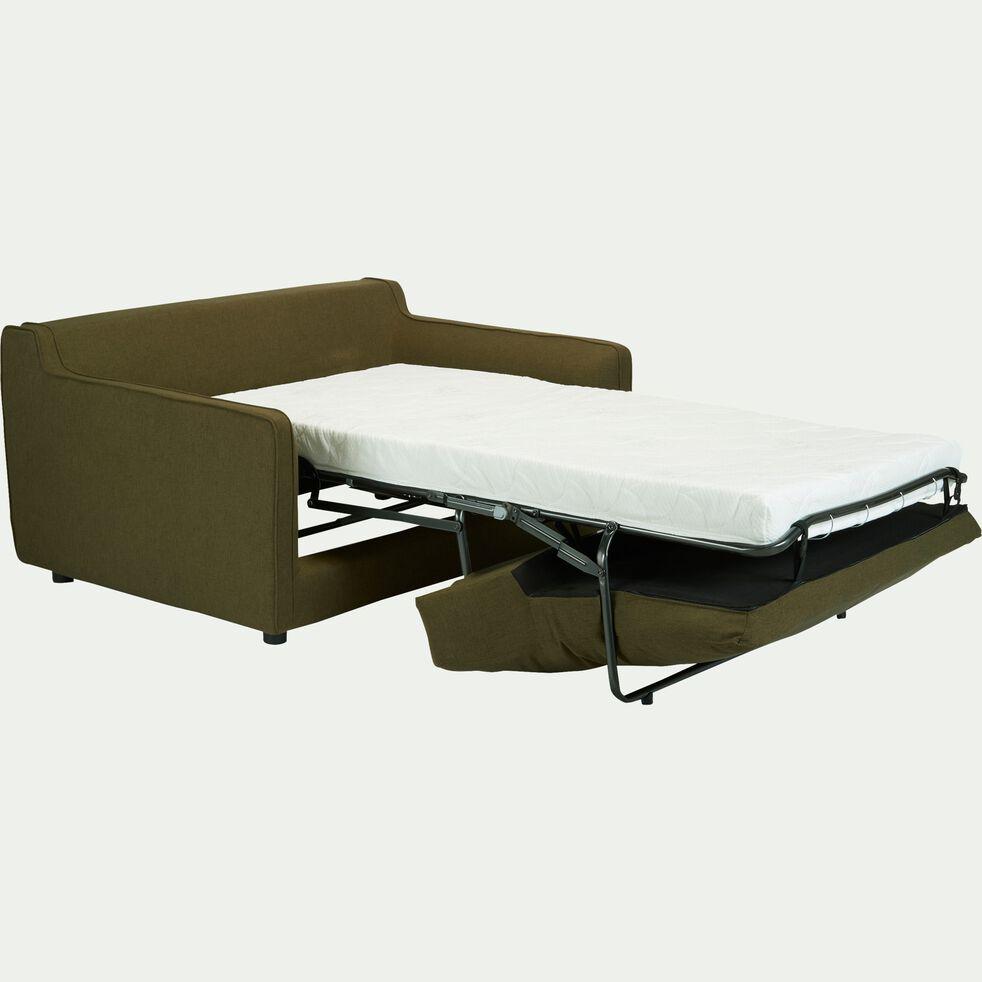 Canapé 2 places convertible en tissu - vert cèdre-LENITA