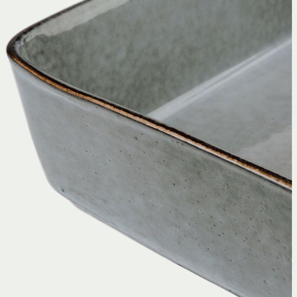 Plat à four en grès bleu 20x13,5cm-ADAM