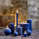Bougie boule bleu myrte-BEJAIA