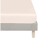 Drap housse en satin Rose grège rayé - 140x200 cm-SANTIS