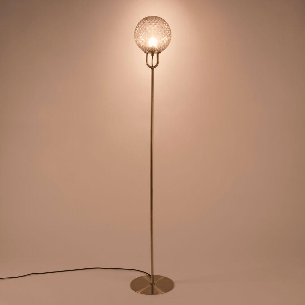 Lampadaire en métal - doré D26xH143cm-GABIAN