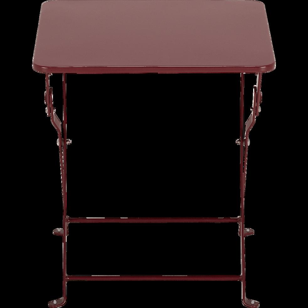 Table basse de jardin pliante rouge sumac en acier - CERVIONE - alinea