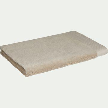 Drap de bain en coton peigné - beige alpilles 100x150cm-AZUR