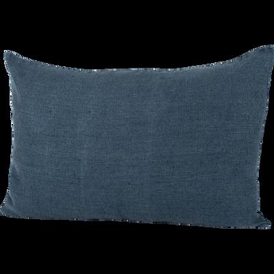 Coussin en lin lavé bleu marine 40x60cm-ST TROPEZ