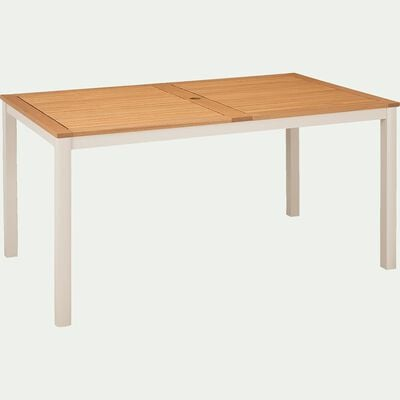 Table de jardin en eucalyptus et aluminium (6 places)-DOLE
