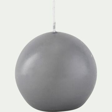 Bougie ronde gris restanque D6cm-HALBA
