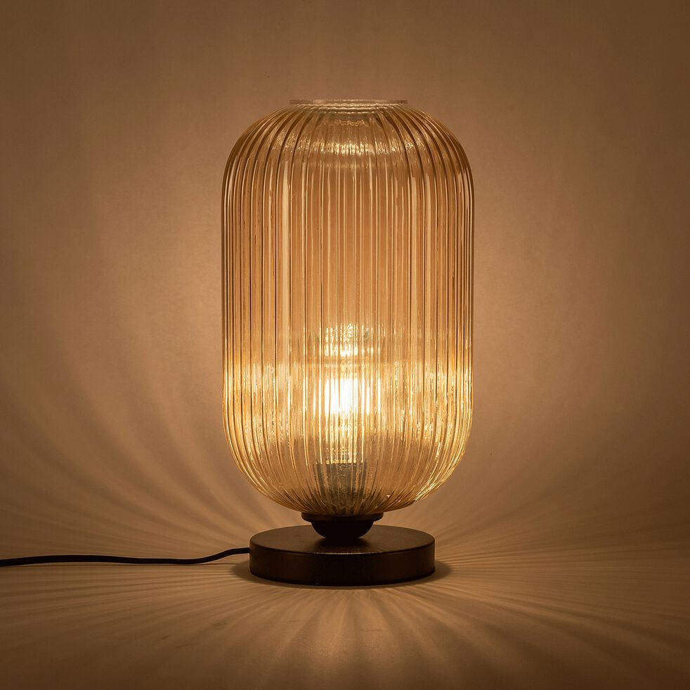 Lampe en verre et métal D20xH38cm-ZAIA
