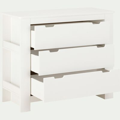 Commode 3 tiroirs chambre enfant - blanc-POLLUX