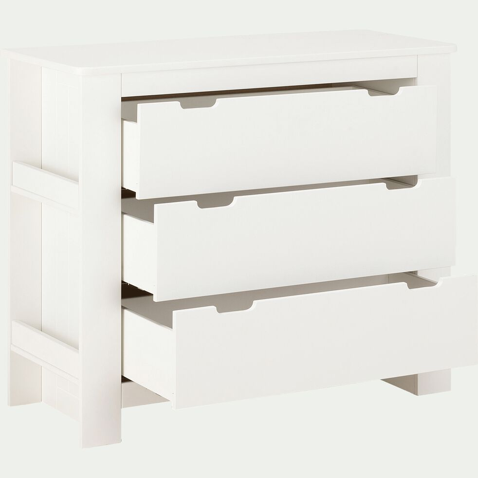 Commode 3 tiroirs chambre enfant - blanc-POLLUX