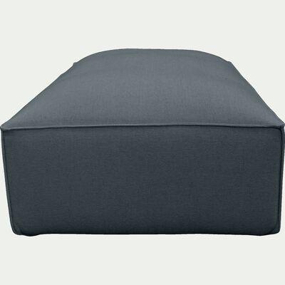 Grand pouf en tissu bleu autan-REVERE