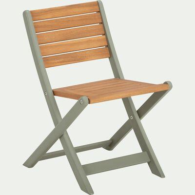 Chaise pour enfant 50x33x38cm vert olivier-MAXIME