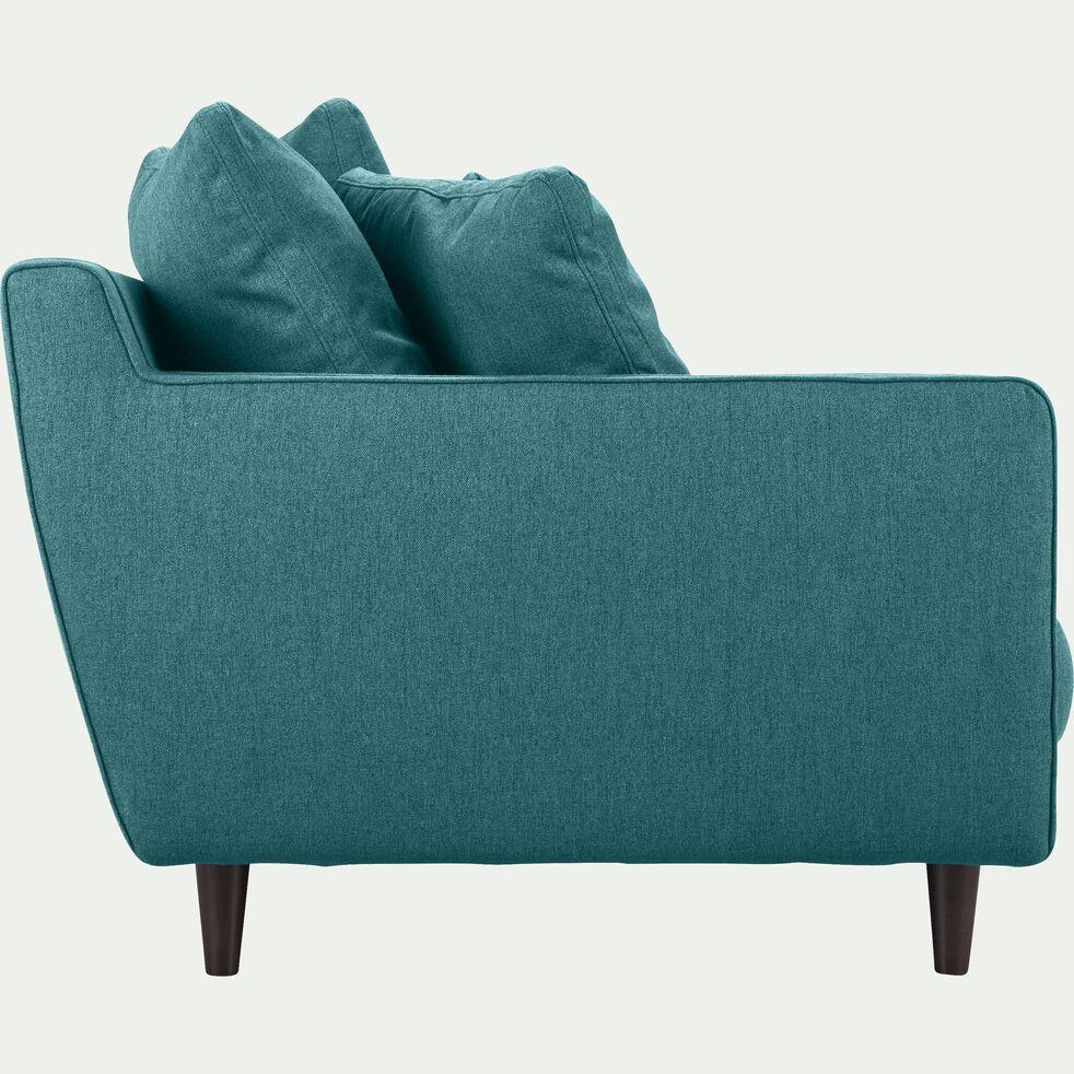 Canapé 5 places fixe en tissu - bleu niolon-LENITA