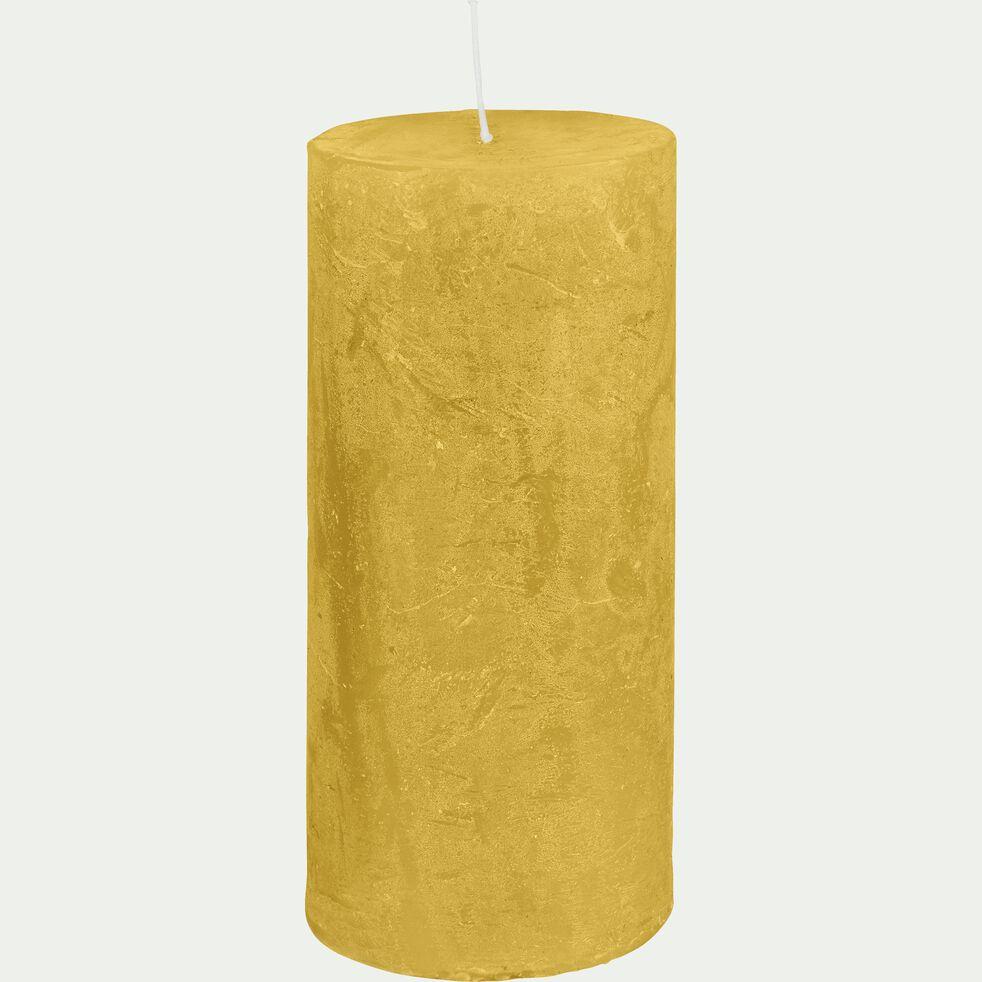 Bougie cylindrique - beige nèfle H15cm-BEJAIA