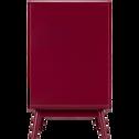 Buffet rétro rouge sumac 1 porte et 3 tiroirs-AUBUN