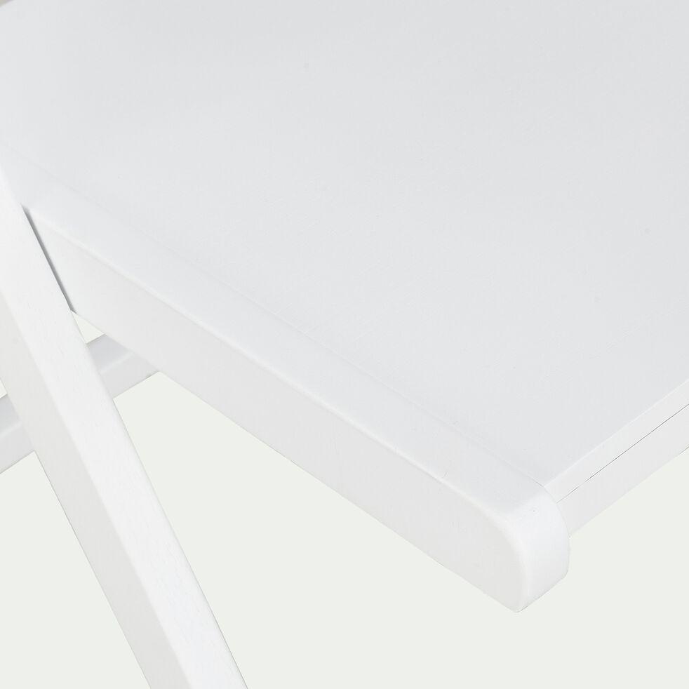 Chaise pliante en bois plaqué blanc-JULIA
