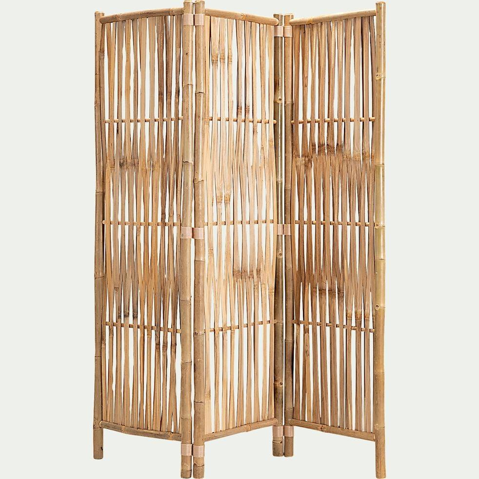 Paravent 3 volets en bambou - L139xH160-DRISS