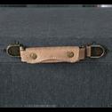 Malle de rangement noire L50xl30cm-CARLONE