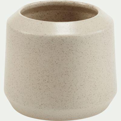 Vase en céramique gris H15cm-APHELIE