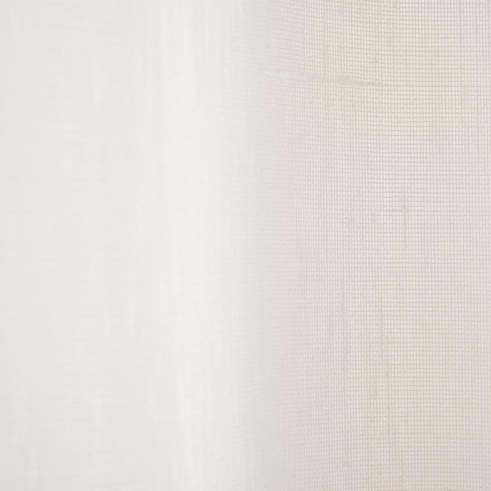 Voilage à oeillets blanc ventoux 135x250cm-DUNE