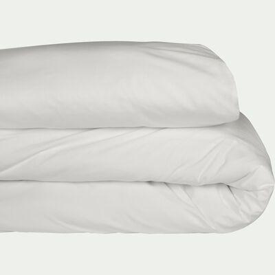 Housse de couette en percale de coton - blanc ventoux 260x240cm-FLORE