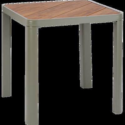 Table de jardin en aluminium et composite carrée Vert cédre-ALEP