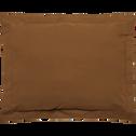 Taie d'oreiller en percale lavé en 35x45cm brun albe-PALOMA