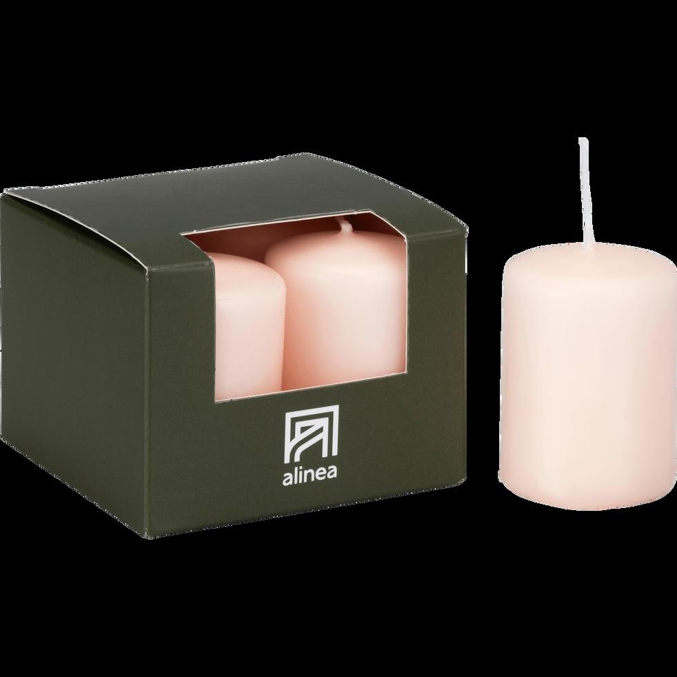 4 bougies votives rose sable-HALBA
