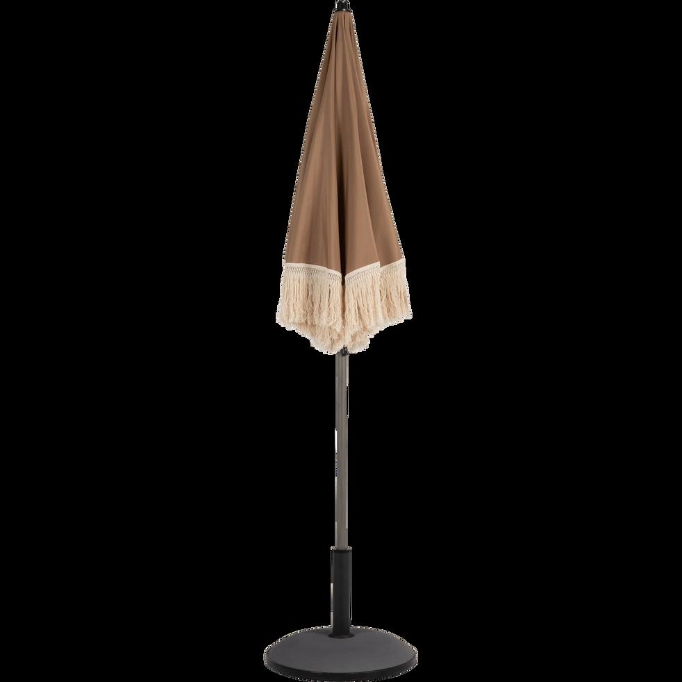 Parasol à franges brun châtaignier D160cm-RICCIA