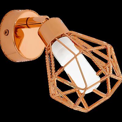 Spot applique en métal filaire cuivré 1 lumière-ZAPATA