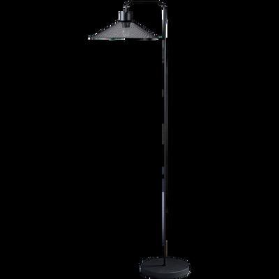 Lampadaire en métal noir ajouré H153cm-SANDRA