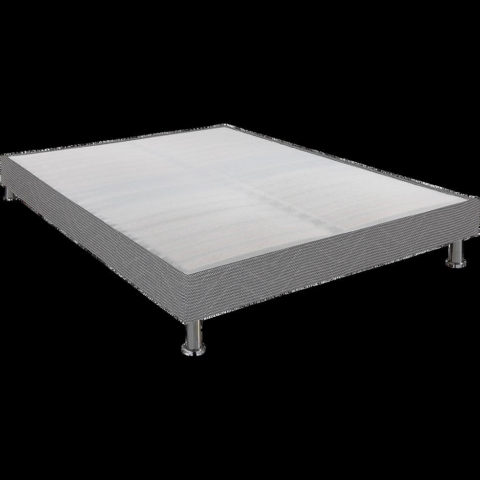 Sommier tapissier Alinéa 15 cm Gris - 140x190 cm-DECOCONFORT